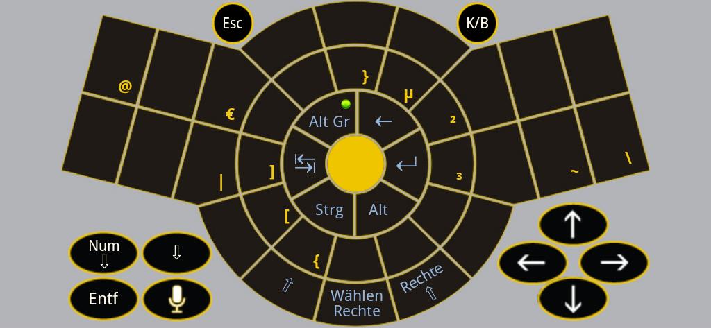 Figure-11 Keyboard App Alt-Gr - German Standard QWERTZ keyboard layout