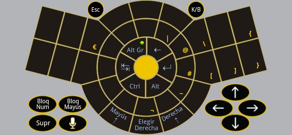 Figure-13 Keyboard App Alt-Gr - Spanish Standard QWERTY keyboard layout
