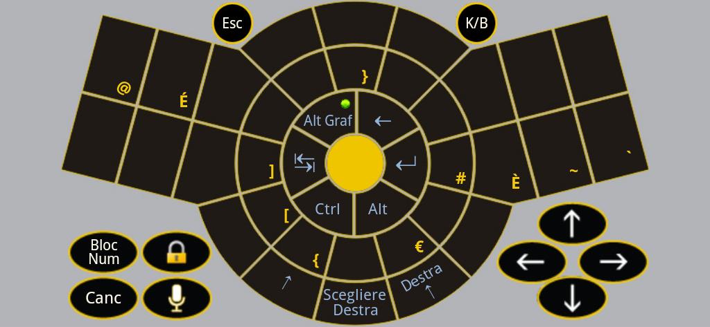 Figure-14 Keyboard App Alt-Gr - Italian Standard QWERTY keyboard layout