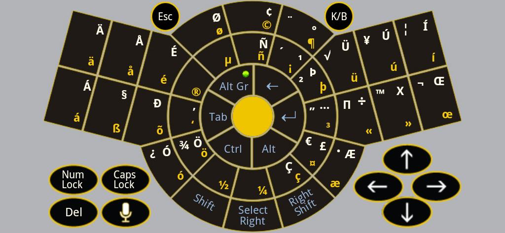 Figure-9 Keyboard App Alt-Gr - US International keyboard layout