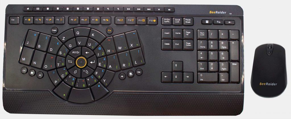 One hand keyboard - BeeRaider Optimized Keyboard