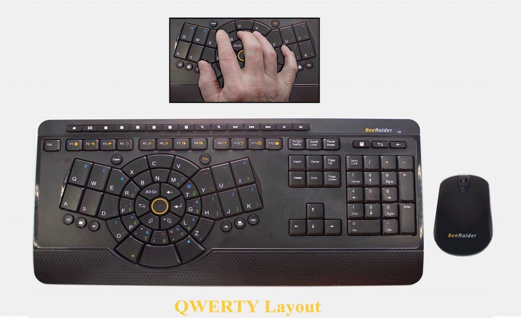 One hand keyboard - BeeRaider QWERTY Keyboard