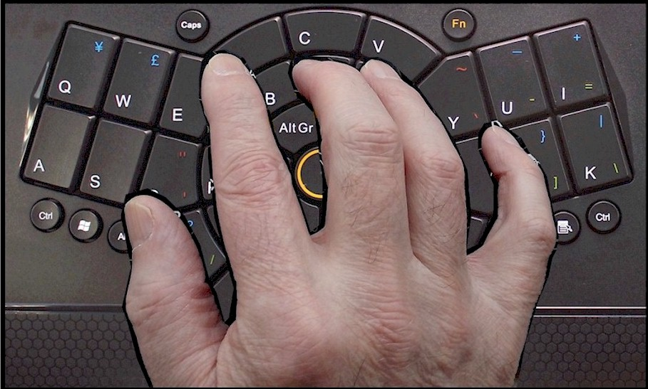 One handed keyboard for one hand typing (compact, ergonomic, wireless)